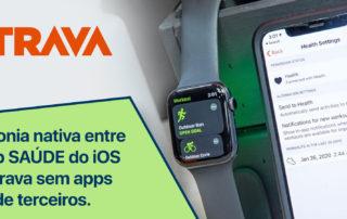 Sincronia nativa entre o app SAÚDE do iOS e Strava sem apps de terceiros